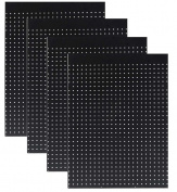 WallPeg Case of 12ea 60cm x 60cm Black Pegboard Panels - Tuff Polypropelene 0.6cm hole Pegboard AM 204