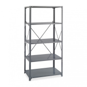 Safco Products 6267 Commercial Shelf Kit 90cm W x 60cm D x 180cm H with 5 Shelves, Grey