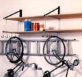 Two Level 2.4m Wide Storage Shelf Kit with 8 Padded Storage Hooks and 2 Ladder Hooks