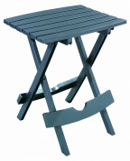 Adams Manufacturing 8500-13-3700 Plastic Quik-Fold Side Table, Charcoal