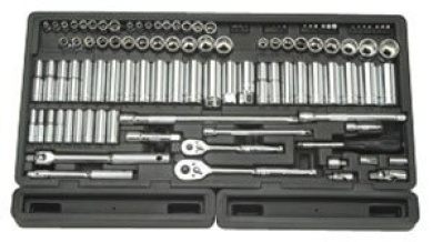 Advanced Tool Design Model ATD-1380 106 Piece 0.6cm and 1cm Drive 6-Point Socket Set in Blow Moulded Organiser Tray