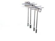 Pit Posse T Handle Tool Rack Holder Aluminium