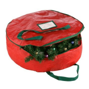 Elf Stor Premium Red Holiday Christmas Wreath Storage Bag For 60cm Inch Wreaths