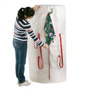 Elf Stor Premium White Holiday Christmas Tree Storage Bag, Large