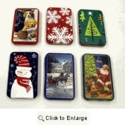 Holiday Gift Card Tin Holder (Set of Six