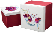 Sandy Wilson China 2-Piece Set Square Applique Box, 10-2/3 by 27cm by 22cm