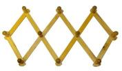 Expanding PEG Rack 10 Hooks Hardwood Multi-purpose Vertical or Horizontal Wall Mount