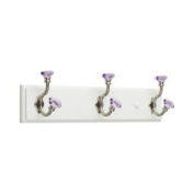 Target Home Acrylic Facets Hook Rail - White and Satin Nickel and Lavendar