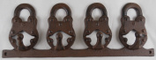 Unique Iron Padlock Hooks Coat Rack