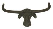 Cast Iron Longhorn Steer Wall Hook