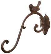 Gift Craft 28cm Cast Iron Bird Design Wall Hook, Medium, Antique Brown