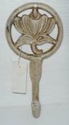 Ivory Cast Iron Tree Rose Coat Hook