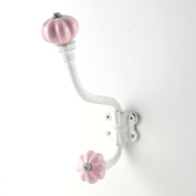 Shabby Cottage White Wall Hook Iron Wall Decor, Robe or Towel Hook~H30 Decorative Metal Hook for Hanging Clothes, Coats & Keys ~ Hooks for Bathroom & Kitchen