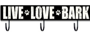 Sixtrees Live Love Bark Sign with Hooks