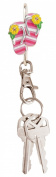 Finders Key Purse Striped Flip Flops Key Chain