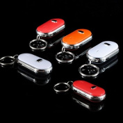 One Wireless LED Key Finder Locator Electronic Whistle Remote Keychain RANDOM colour
