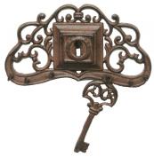 NACH XH-7493 Cast Iron Key Hanger, Large, Brown/Black