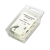 Buddy Products Plastic Key Tags, Numbered 1-30, White