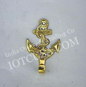 Solid Brass Fouled Anchor Key or Leash Holder - 10cm Long