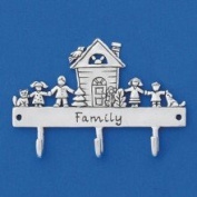Family House Triple Hook in Pewter