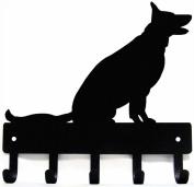 German Shepherd Sitting - Dog Leash Hanger/ Key Rack