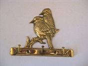 Solid Brass Two Birds Key Hook
