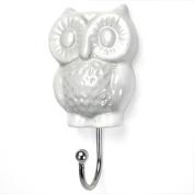 White Owl Wall Hook, Wall Decor, Towel Rack, Jewellery, Coat, Belt Hook ~H06~ Decorative Bathroom, Kitchen, Mudroom Hook