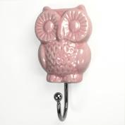 Pink Owl Wall Hook, Wall Decor, Towel Rack, Jewellery, Coat, Belt Hook ~H08~ Decorative Bathroom, Kitchen, Mudroom Hook