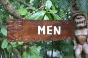 """MEN"" BATHROOM TIKI SIGN 60cm - TIKI RESTAURANT"
