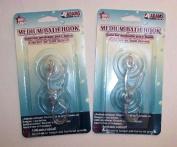 """ABC Products"" - 2 pkg ~ Medium Size 1-3/4 - Suction Cup - Swivel Hooks"