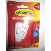 3m Command 17002d White Utility Hook-hanging Strip,