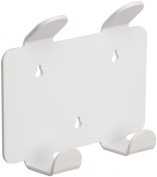 TrippNT 50094 White ABS Plastic Double Apron and Lab Coat Hook with Tape, 2 Position, 19cm Width x 17cm Height x 5.8cm Depth
