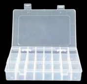 HotEnergy 15/24/36 Grid Clear Adjustable Jewellery Bead Organiser Box Storage Container Case
