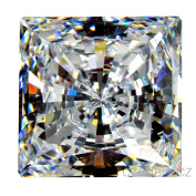 """Cubic Zirconia Loose Square Shape / Round cutting 4.50 X 4.50 MM/ 0.50 Ct Diamond Weight Super & Super Quality Clear White Colour. Not """" AAA """" or """" AAAAA """" Cubiczirconia Quality."""