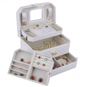 [Rowling] Jewellery Box Storage Case Beads Watch Case Gift Box Faux Leather Zg223