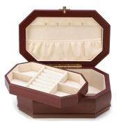 Elegant Rosewood Finish Jewellery Box Case Holder Tray