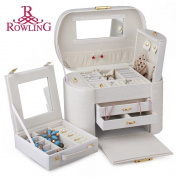 ROWLING Large Faux Leather Jewellery Case Storage Box Watch Box Cosmetic Case 152
