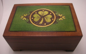 Celtic Shamrock Keepsake Jewellery Polish Wooden Box