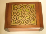 Celtic Dream Eternity Knot Secret Jewellery Keepsake Polish Wood Box