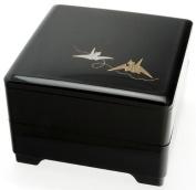 Kotobuki 2-Tiered Jubako Lacquer Box