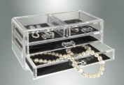 Kennedy Home Collections Acrylic Jewellery Box with 4 Drawers