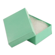 100 pcs Teal Blue Cotton Filled Jewellery Gift Boxes 3x2
