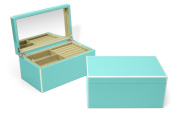 Swing Design Elle Lacquer Jewellery Box, Turquoise