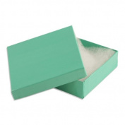 100 pcs Teal Blue Cotton Filled Jewellery Gift Boxes 3x3