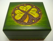 Handmade Shamrock Jewellery Cufflink Ring Box