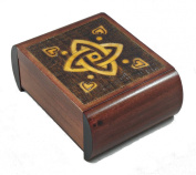 Classic Celtic Love Knot Secret Jewellery Keepsake Polish Wood Box Sailor Celtic Knot