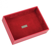 STACKERS 'CLASSIC SIZE' Red Deep Open STACKER Jewellery Box with Red Velvet Finish Lining.