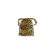 Velvet Drawstring Gift Pouch with Leopard Print Size