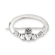 Sterling Silver Claddagh Pin, Best Quality. Box Satisfaction Guaranteed