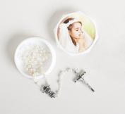 Joseph's Studio Girls Communion Box with Rosary